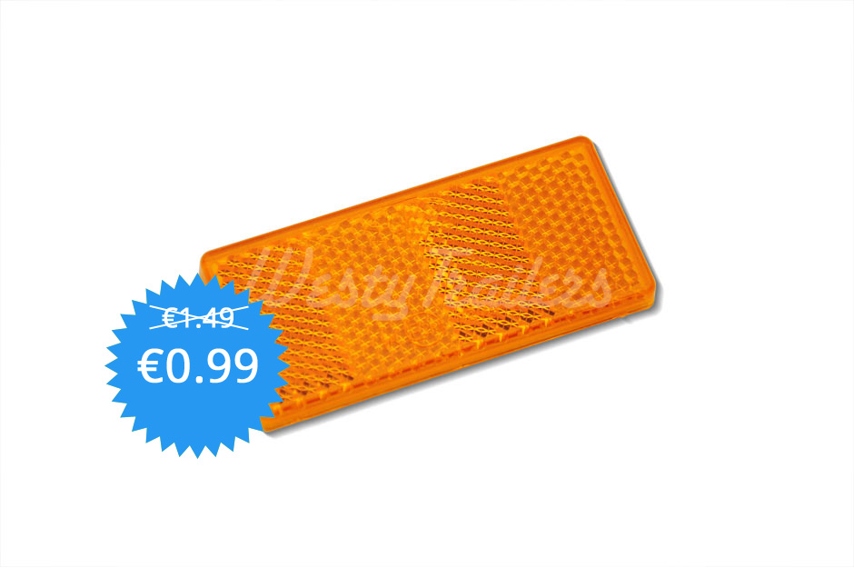 Reflector Orange 70x30mm Sticker Westy Trailers
