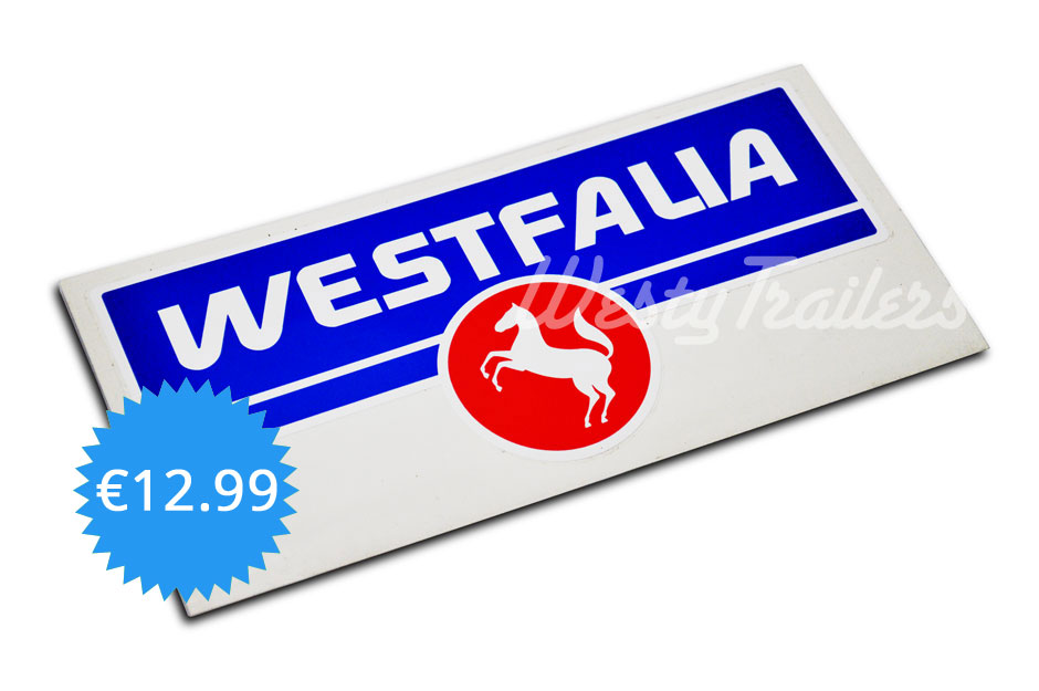 Westfalia sticker rood/blauw 225x106mm