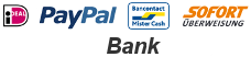 You can pay via iDEAL, PayPal, Bancontact/Mister Cash, SOFORT Banking and Banktransfer