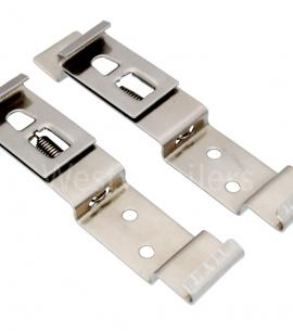 Stainless steel numberplate holders